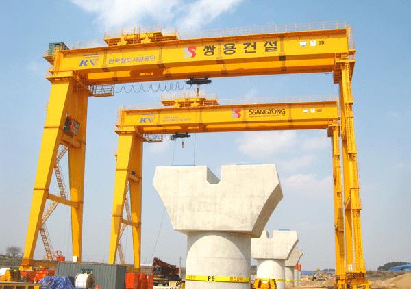 新大方450吨轮轨式跨线提梁机