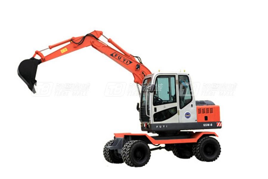 富亿W65-8轮式挖掘机
